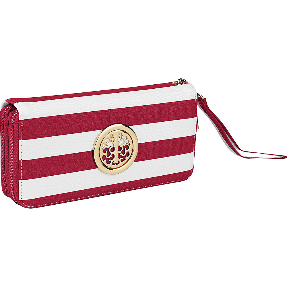 MKF Collection by Mia K. Farrow All About Stripes Wristlet Fuchsia - MKF Collection by Mia K. Farrow Womens Wallets - Women's SLG, Women's Wallets