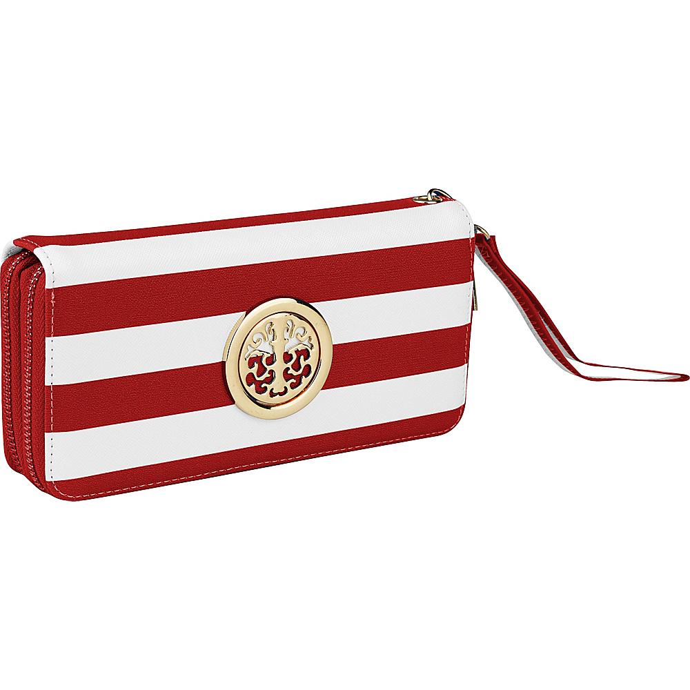 MKF Collection by Mia K. Farrow All About Stripes Wristlet Red - MKF Collection by Mia K. Farrow Womens Wallets - Women's SLG, Women's Wallets