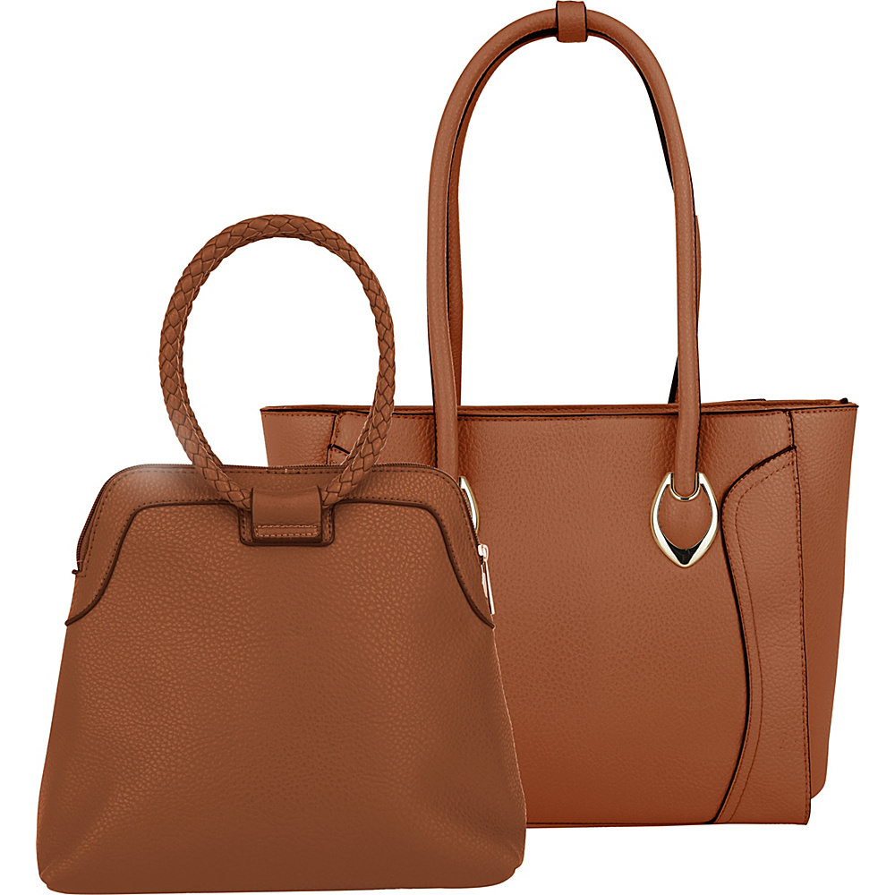 MKF Collection by Mia K. Farrow Tinsley Tote Brown - MKF Collection by Mia K. Farrow Manmade Handbags - Handbags, Manmade Handbags