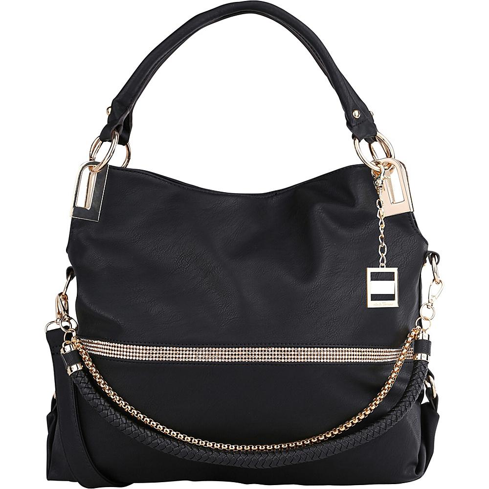 MKF Collection by Mia K. Farrow Twister Satchel Black - MKF Collection by Mia K. Farrow Manmade Handbags - Handbags, Manmade Handbags