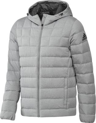 adidas outdoor Mens Quilt Down Jacket L - Medium Grey Heather/Grey Five/Black - adidas outdoor Men's Apparel