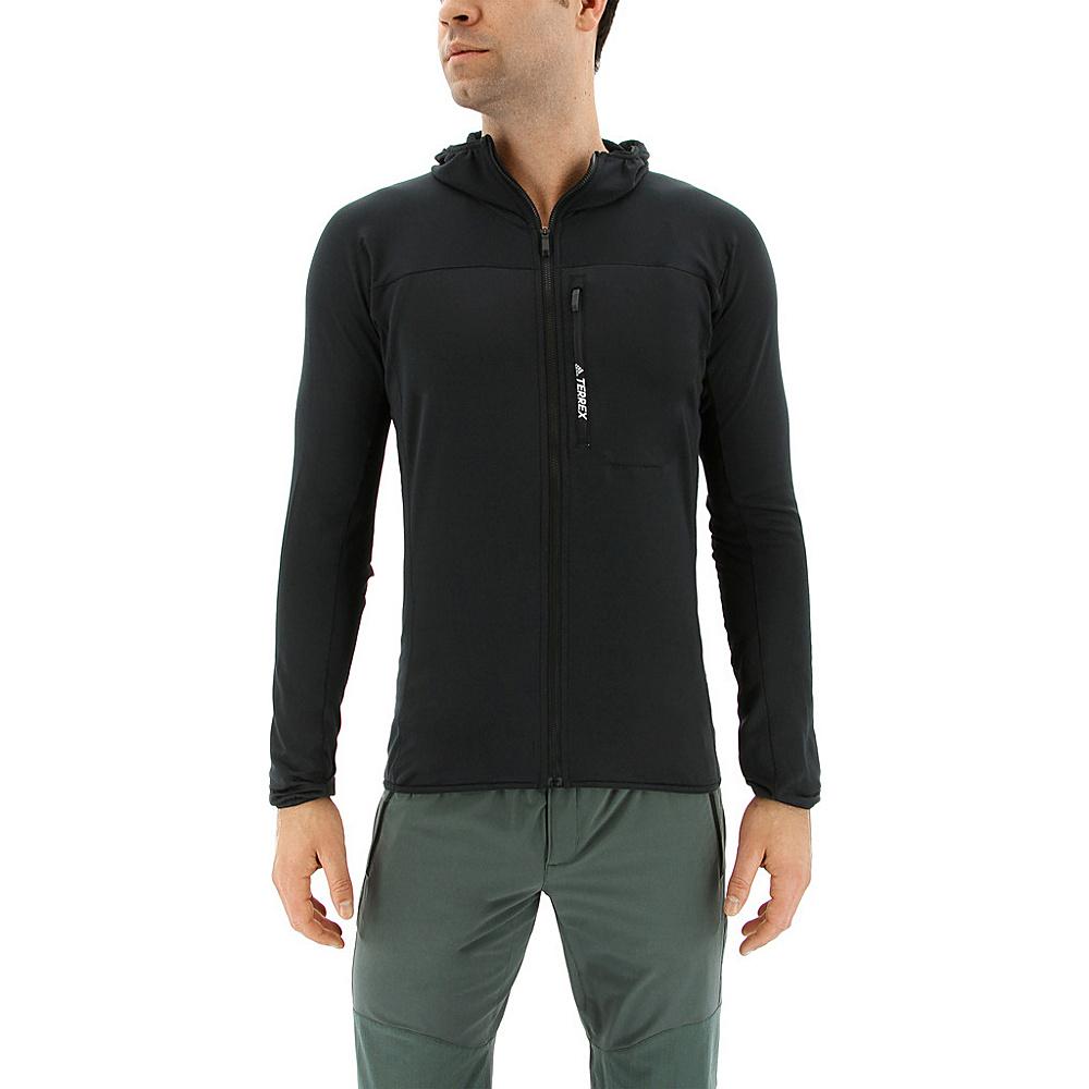 adidas outdoor Mens Terrex Tracerocker Hooded Fleece 2XL - Black - adidas outdoor Mens Apparel - Apparel & Footwear, Men's Apparel
