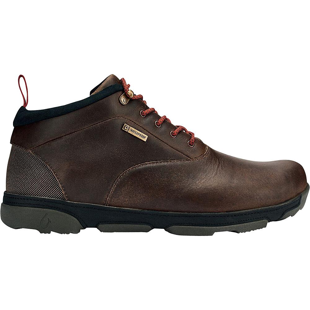 OluKai Mens Kualono WP Boot 9 - Carob/Black - OluKai Mens Footwear - Apparel & Footwear, Men's Footwear