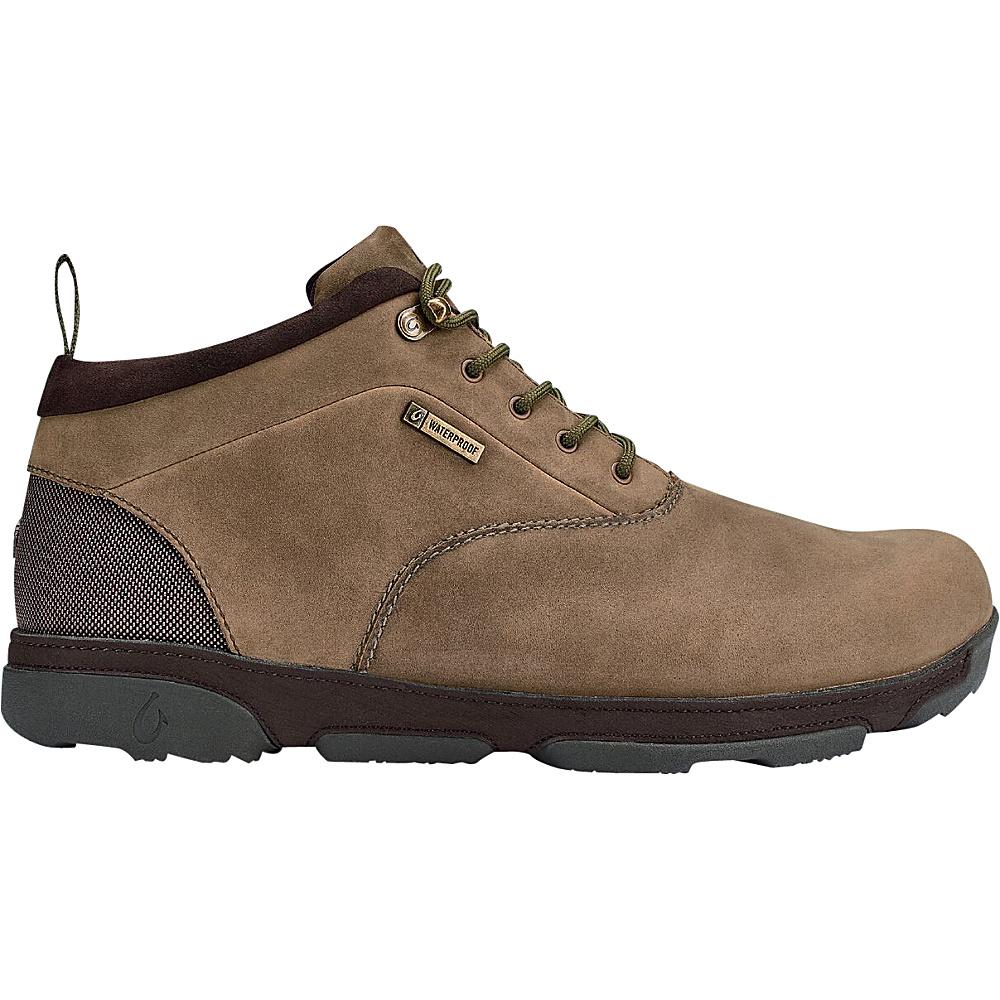 OluKai Mens Kualono WP Boot 8.5 - Ray/Dark Wood - OluKai Mens Footwear - Apparel & Footwear, Men's Footwear