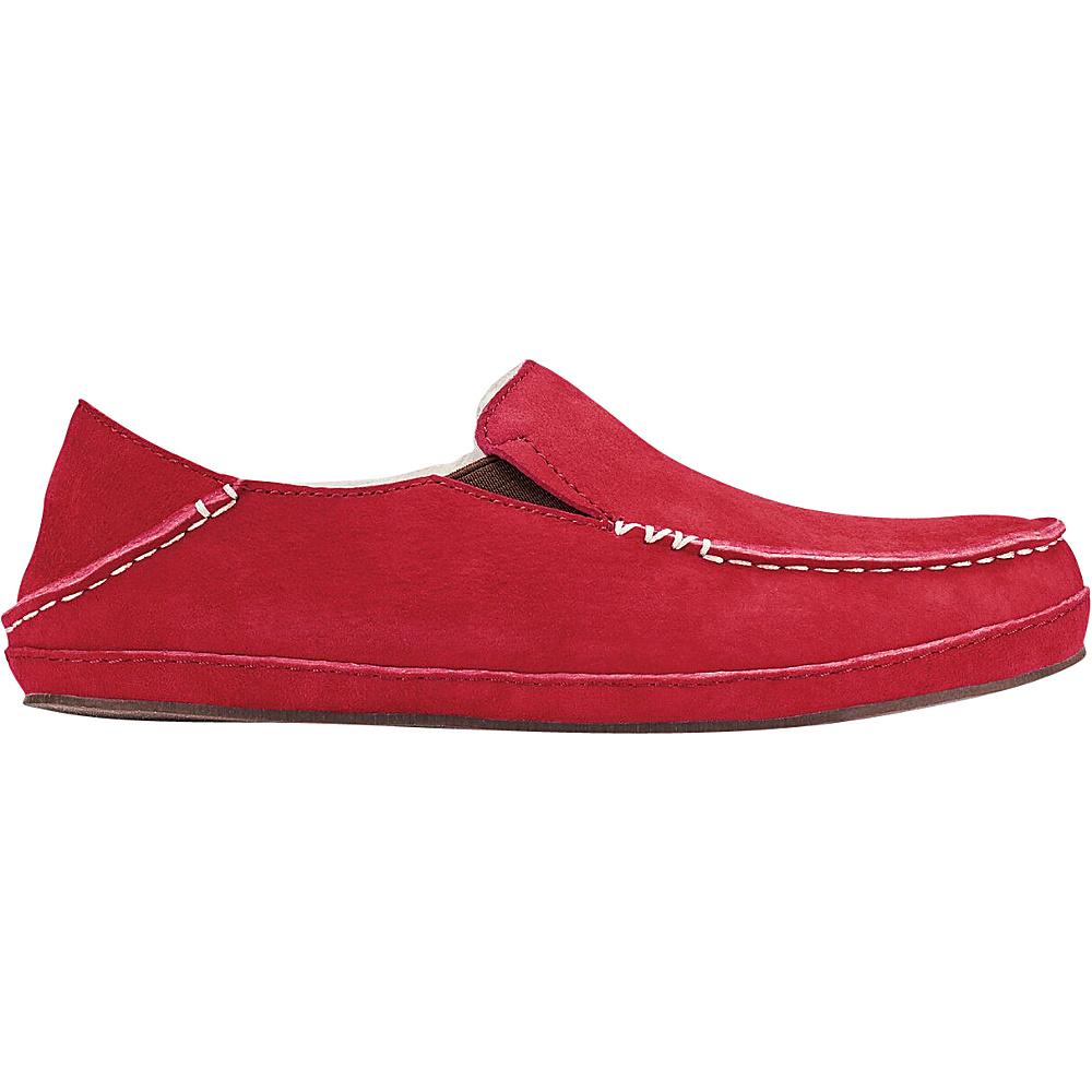 OluKai Womens Nohea Slipper 6 - Red Mud/Red Mud - OluKai Womens Footwear - Apparel & Footwear, Women's Footwear