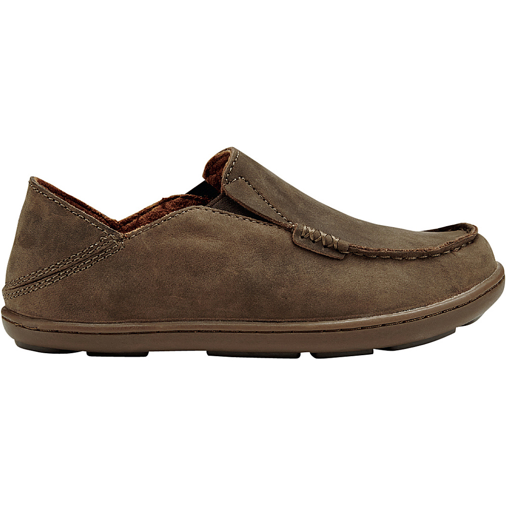 OluKai Boys Moloa Slip-On 9 (US Toddlers) - Dark Wood/Mustang - OluKai Mens Footwear - Apparel & Footwear, Men's Footwear