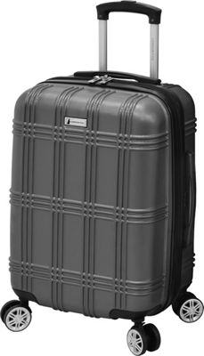 London Fog Kingsbury 21 inch Expandable Hardside Spinner Titanium - London Fog Kids' Luggage