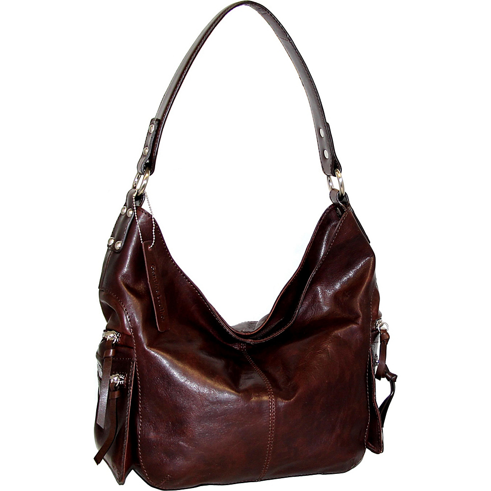 Nino Bossi Marigold Bouquet Hobo Chocolate - Nino Bossi Leather Handbags - Handbags, Leather Handbags