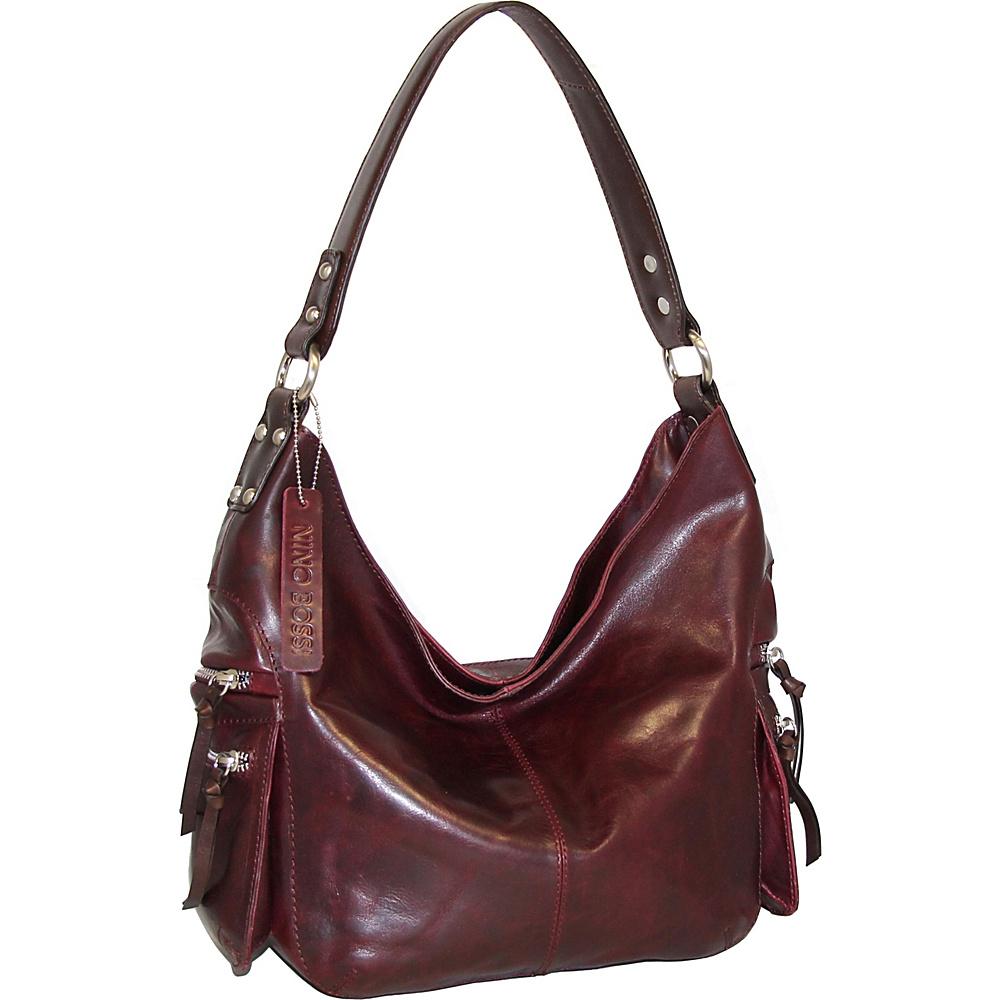Nino Bossi Marigold Bouquet Hobo Wine - Nino Bossi Leather Handbags - Handbags, Leather Handbags