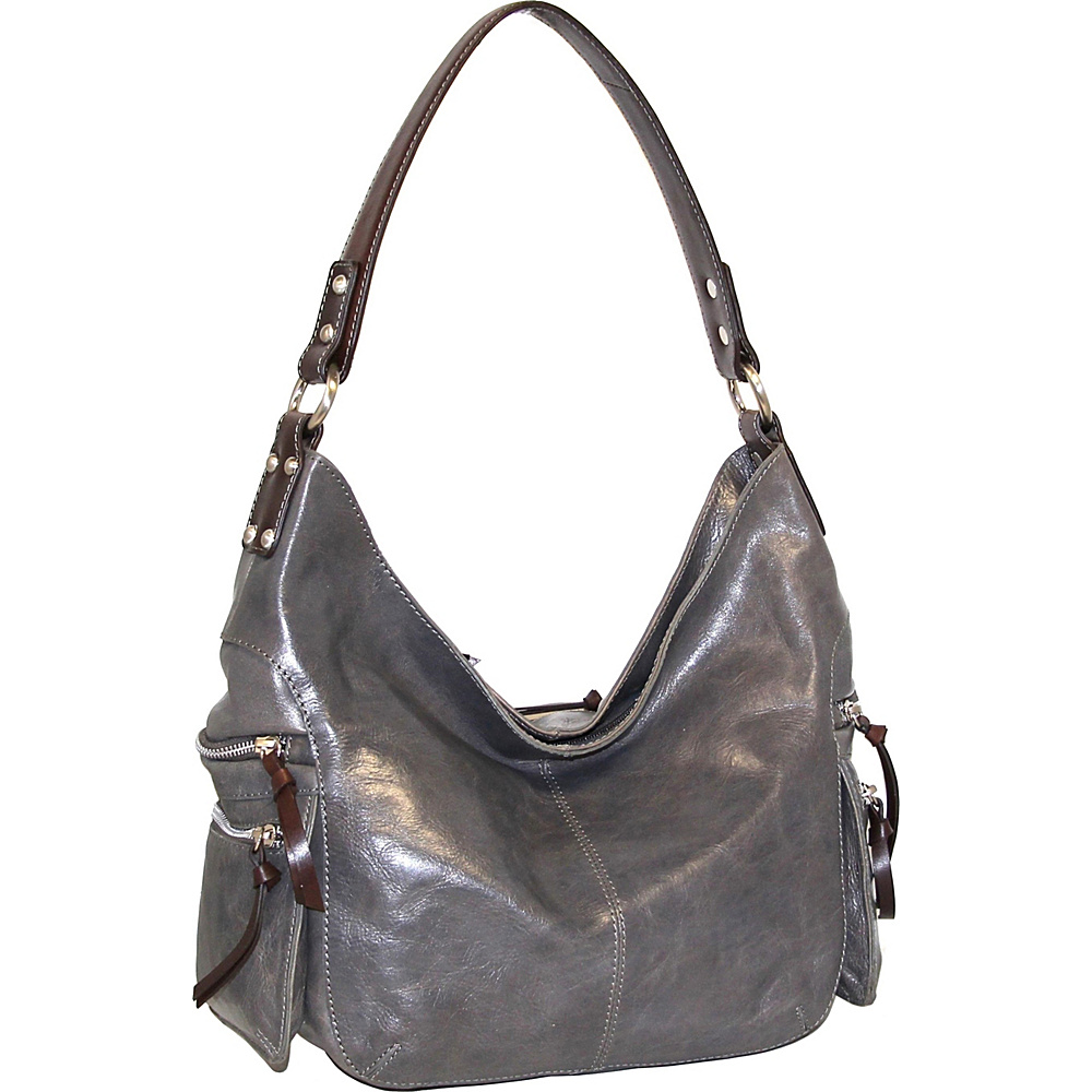 Nino Bossi Marigold Bouquet Hobo Stone - Nino Bossi Leather Handbags - Handbags, Leather Handbags
