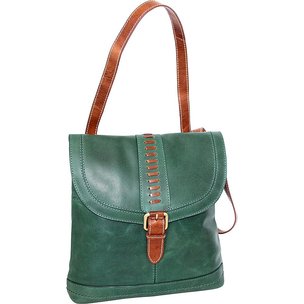 Nino Bossi Elysia Convertible Bag Green - Nino Bossi Leather Handbags - Handbags, Leather Handbags