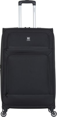 Revelation Remy Pro 30 inch Expandable Checked Spinner Luggage Black - Revelation Softside Checked