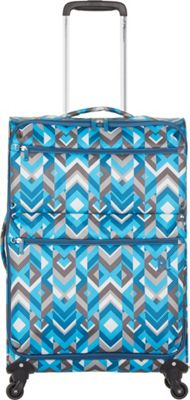 Revelation Weightless D3 26 inch Checked Spinner Luggage Blue/Grey - Revelation Large Rolling Luggage