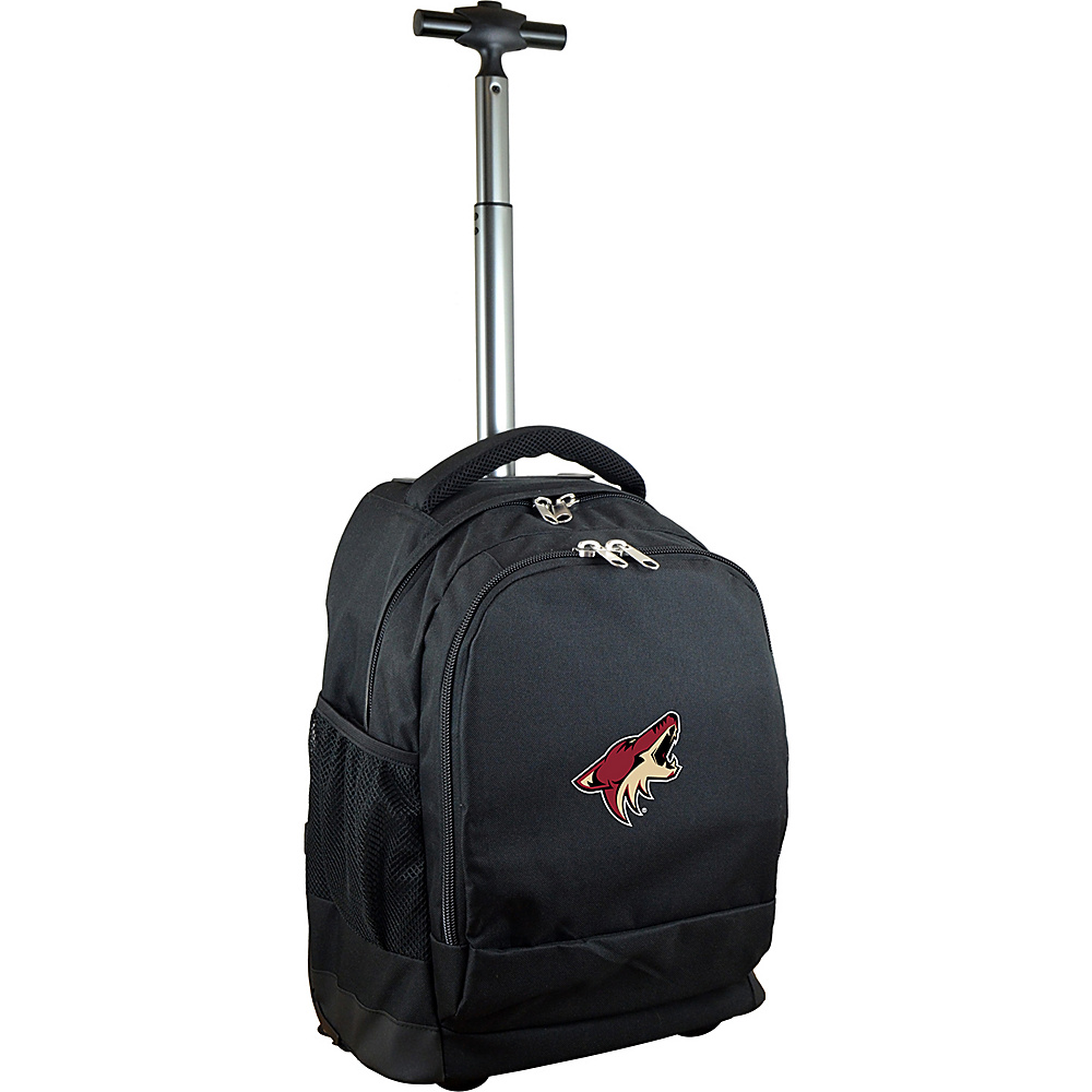 MOJO Denco NHL Premium Laptop Rolling Backpack Phoenix Coyotes - MOJO Denco Rolling Backpacks - Backpacks, Rolling Backpacks
