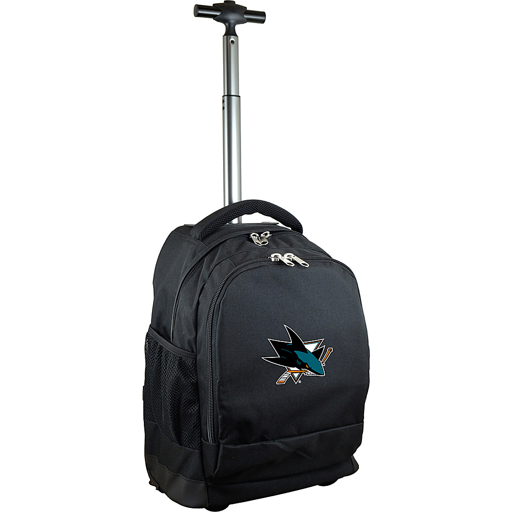 MOJO Denco NHL Premium Laptop Rolling Backpack San Jose Sharks - MOJO Denco Rolling Backpacks - Backpacks, Rolling Backpacks