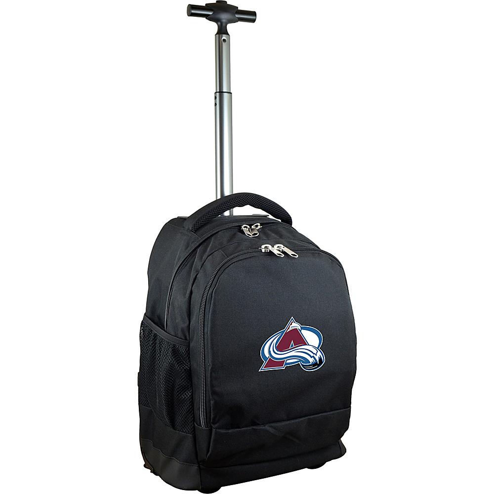 MOJO Denco NHL Premium Laptop Rolling Backpack Colorado Avalanche - MOJO Denco Rolling Backpacks - Backpacks, Rolling Backpacks