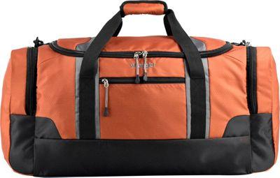 Wrangler 24 inch Multi-Pocket Duffel Burnt Orange - Wrangler Travel Duffels