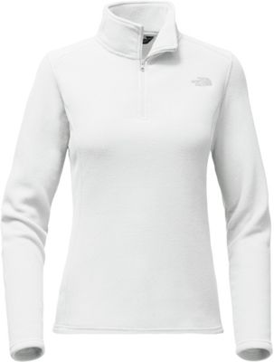 The North Face Womens Glacier 1/4 Zip XS - TNF White/High Rise Grey - The North Face Women's Apparel