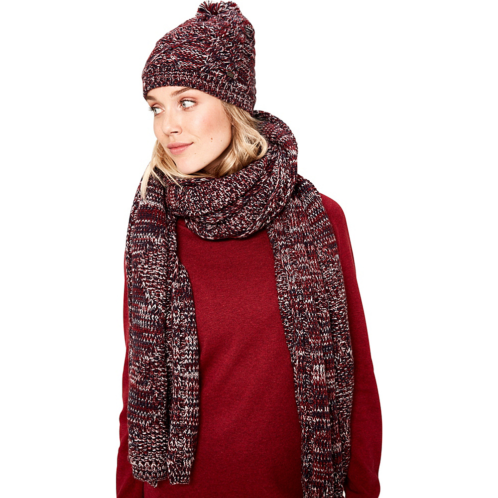 Lole Cable Knit Scarf Dark Berry - Lole Hats/Gloves/Scarves - Fashion Accessories, Hats/Gloves/Scarves