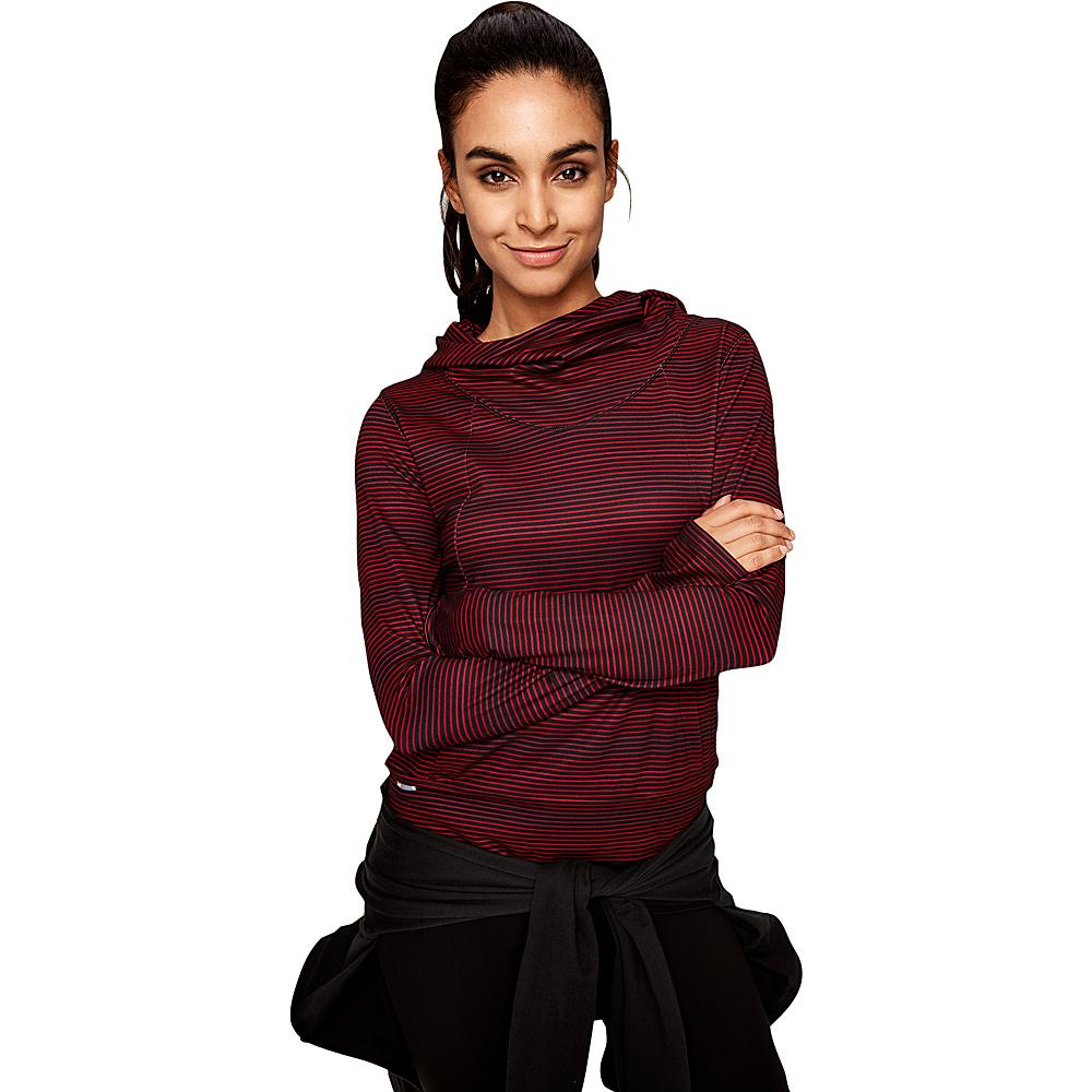 Lole Esma Top XS - Dark Berry Mayfly Stripe - Lole Womens Apparel - Apparel & Footwear, Women's Apparel