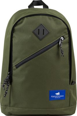 Alpine Division Eliot Laptop Backpack Green Ripstop - Alpine Division Business & Laptop Backpacks