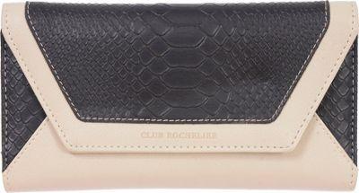 Club Rochelier Slim Clutch with Metal Frame Black/Cream - Club Rochelier Women's Wallets