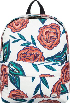 Roxy Sugar Baby Canvas Medium Backpack Marshmallow Mexican - Roxy Everyday Backpacks