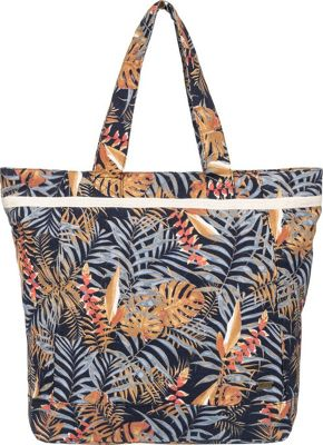 Roxy All Along Tote Anthracite Jungly Flowers - Roxy Fabric Handbags
