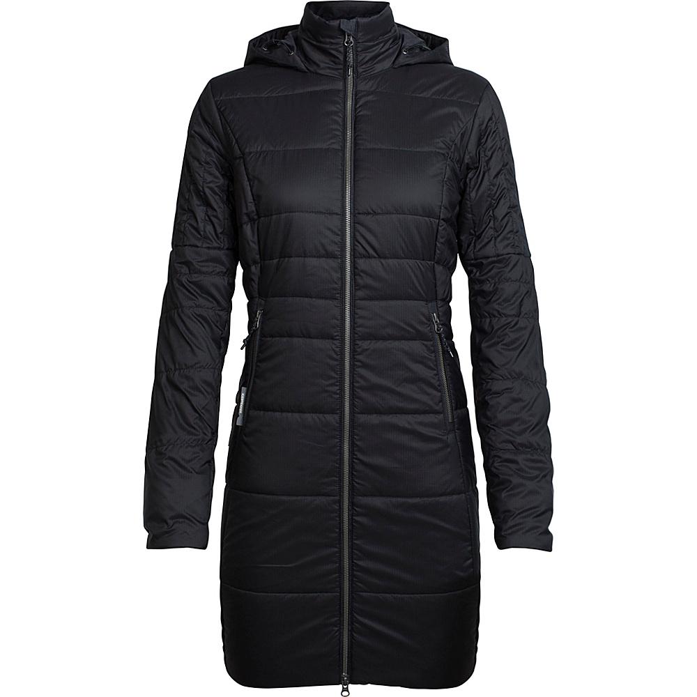 Icebreaker Womens Stratus X 3Q Hooded Jacket L - Black/Jet Heather - Icebreaker Womens Apparel - Apparel & Footwear, Women's Apparel