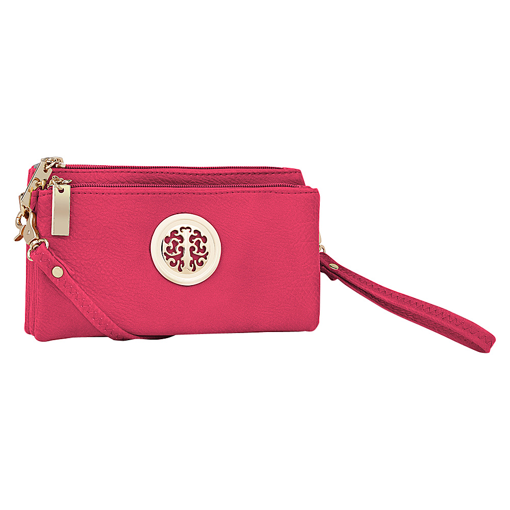 MKF Collection by Mia K. Farrow Natashe 3 in 1 Crossbody Pink - MKF Collection by Mia K. Farrow Manmade Handbags - Handbags, Manmade Handbags