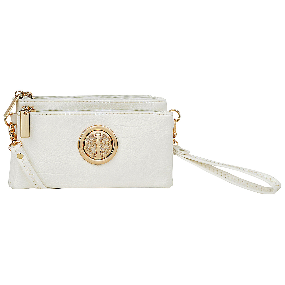 MKF Collection by Mia K. Farrow Natashe 3 in 1 Crossbody White - MKF Collection by Mia K. Farrow Manmade Handbags - Handbags, Manmade Handbags
