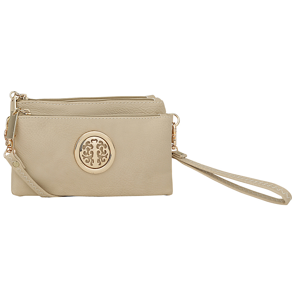 MKF Collection by Mia K. Farrow Natashe 3 in 1 Crossbody Beige - MKF Collection by Mia K. Farrow Manmade Handbags - Handbags, Manmade Handbags