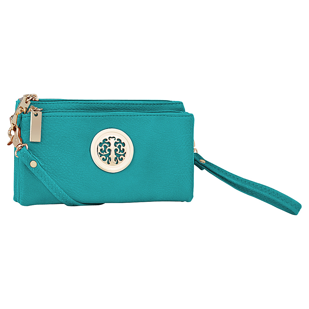 MKF Collection by Mia K. Farrow Natashe 3 in 1 Crossbody Turquoise - MKF Collection by Mia K. Farrow Manmade Handbags - Handbags, Manmade Handbags