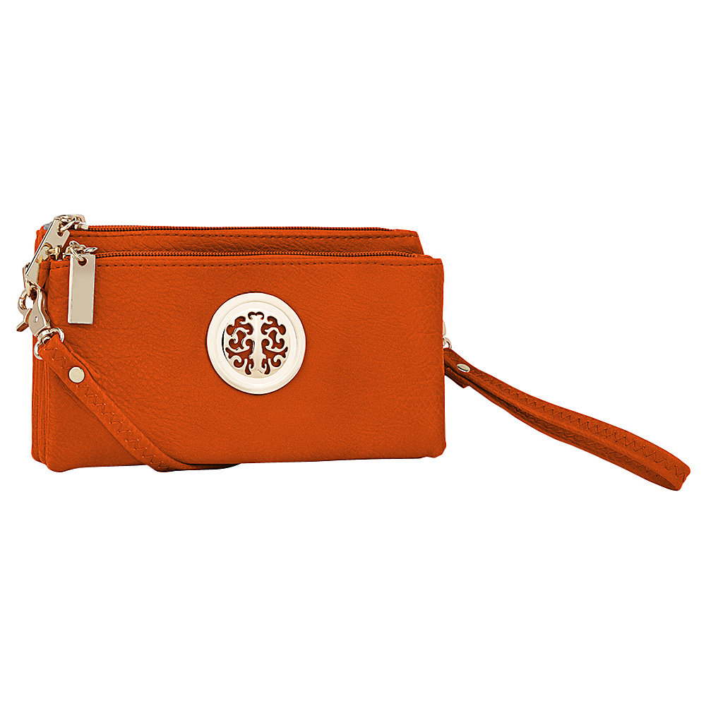 MKF Collection by Mia K. Farrow Natashe 3 in 1 Crossbody Orange - MKF Collection by Mia K. Farrow Manmade Handbags - Handbags, Manmade Handbags
