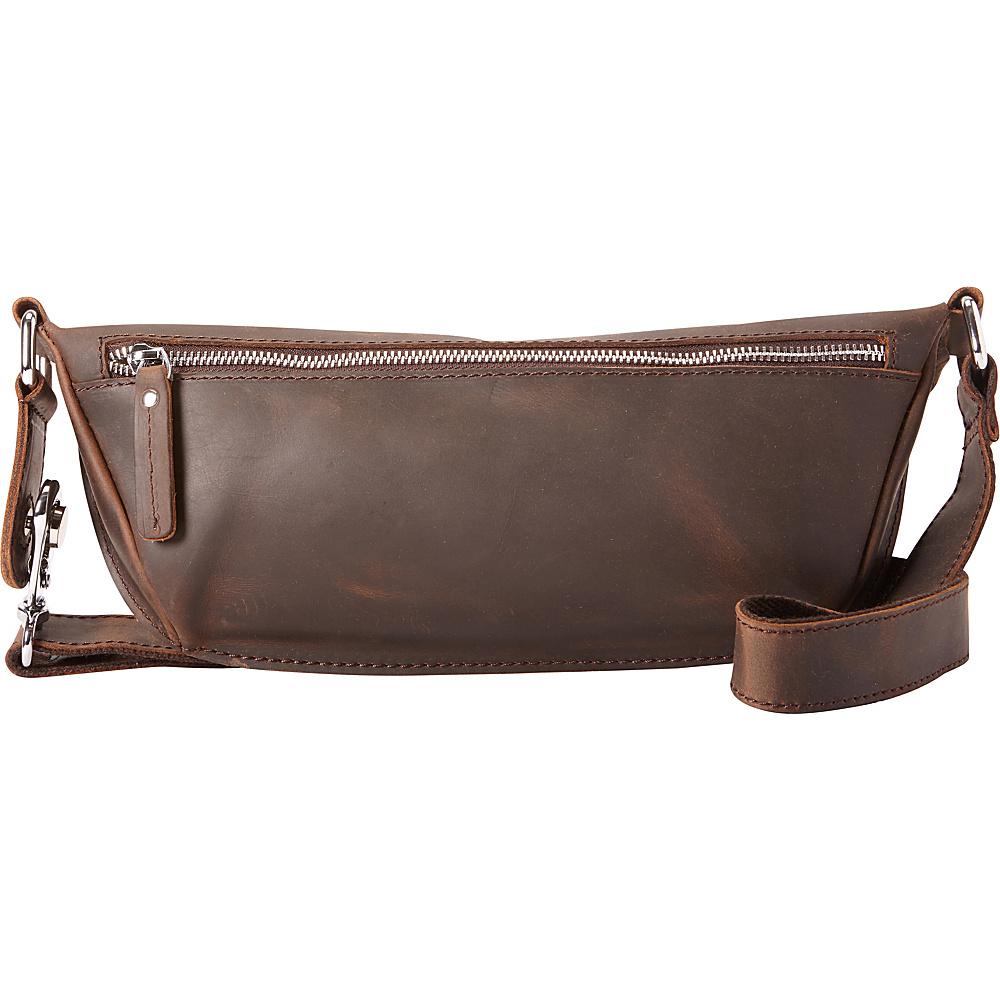Vagabond Traveler Long Shape Waist Pack Dark Brown - Vagabond Traveler Waist Packs - Backpacks, Waist Packs