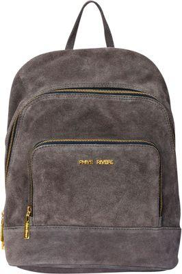 Phive Rivers Soft Soreto Suede Handbag Backpack Grey - Phive Rivers Leather Handbags