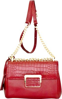 Leatherbay Masio Shoulder Bag Dark Red - Leatherbay Leather Handbags