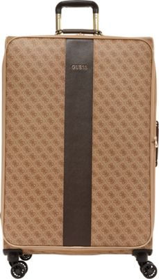 GUESS Travel Nissana 28 inch Expandable Spinner Checked Luggage Brown with Gold Hardware - GUESS Travel Softside Checked