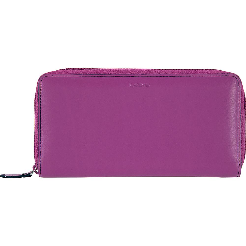 Lodis Audrey RFID Perla Zip Wallet Orchid/Navy - Lodis Womens Wallets - Women's SLG, Women's Wallets