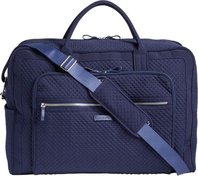 Vera Bradley Iconic Grand Weekender Travel Bag - Solids Classic Navy - Vera Bradley Travel Duffels