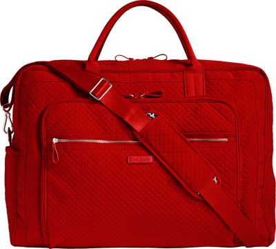 Vera Bradley Iconic Grand Weekender Travel Bag Cardinal Red - Vera Bradley Travel Duffels