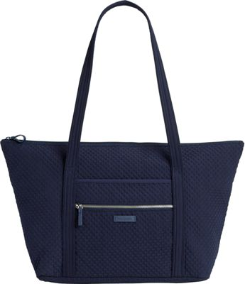 Vera Bradley Iconic Miller Travel Bag - Solids Classic Navy - Vera Bradley Fabric Handbags