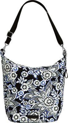Vera Bradley Carson Hobo Bag Snow Lotus - Vera Bradley Fabric Handbags