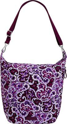 Vera Bradley Carson Hobo Bag Lilac Paisley - Vera Bradley Fabric Handbags