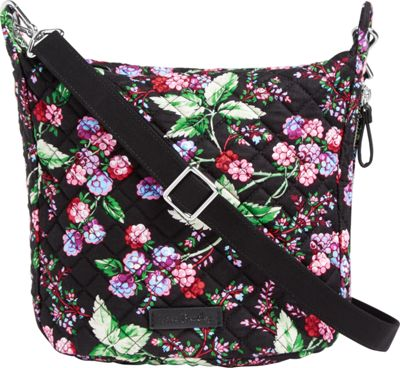 Vera Bradley Carson Mini Hobo Crossbody Winter Berry - Vera Bradley Fabric Handbags