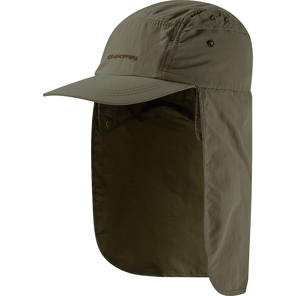 Craghoppers Mens Nat Geo NosiLife Desert Hat S/M - Dark Khaki - Craghoppers Hats/Gloves/Scarves - Fashion Accessories, Hats/Gloves/Scarves
