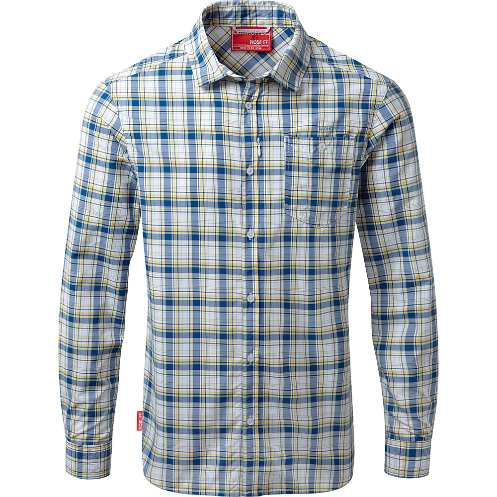 Craghoppers Nat Geo NosiLife Prospect Long Sleeve Check Shirt XL - Deep Blue Combo - Craghoppers Mens Apparel - Apparel & Footwear, Men's Apparel