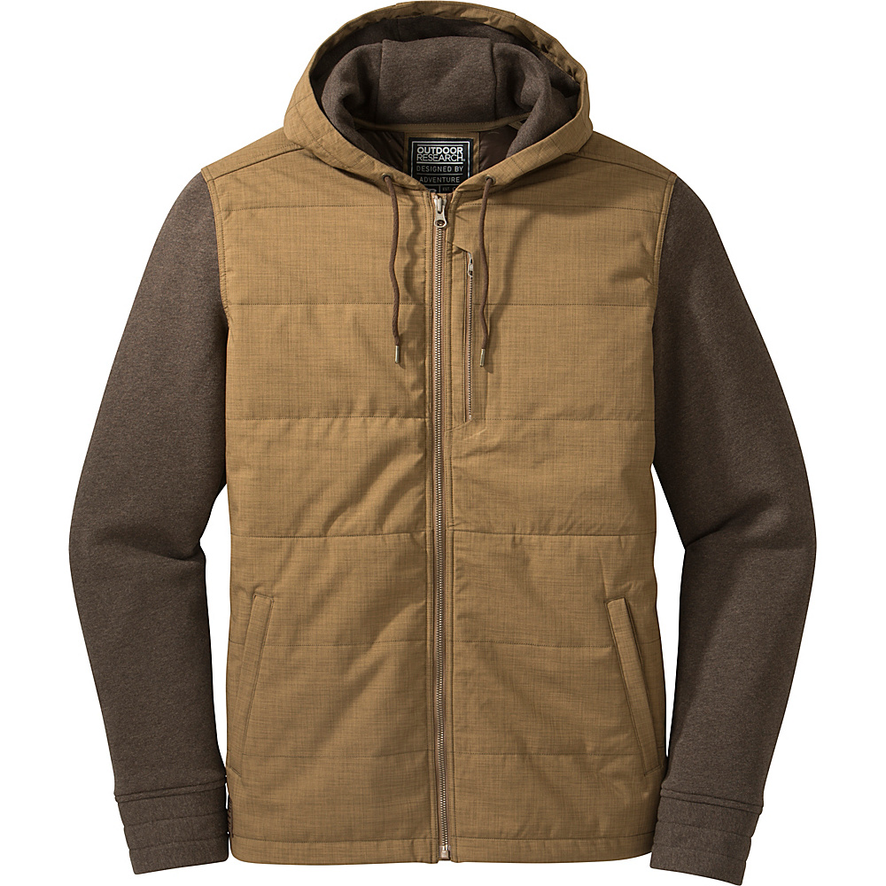 Outdoor Research Mens Revy Hooded Jacket S - Coyote/Earth - Outdoor Research Mens Apparel - Apparel & Footwear, Men's Apparel