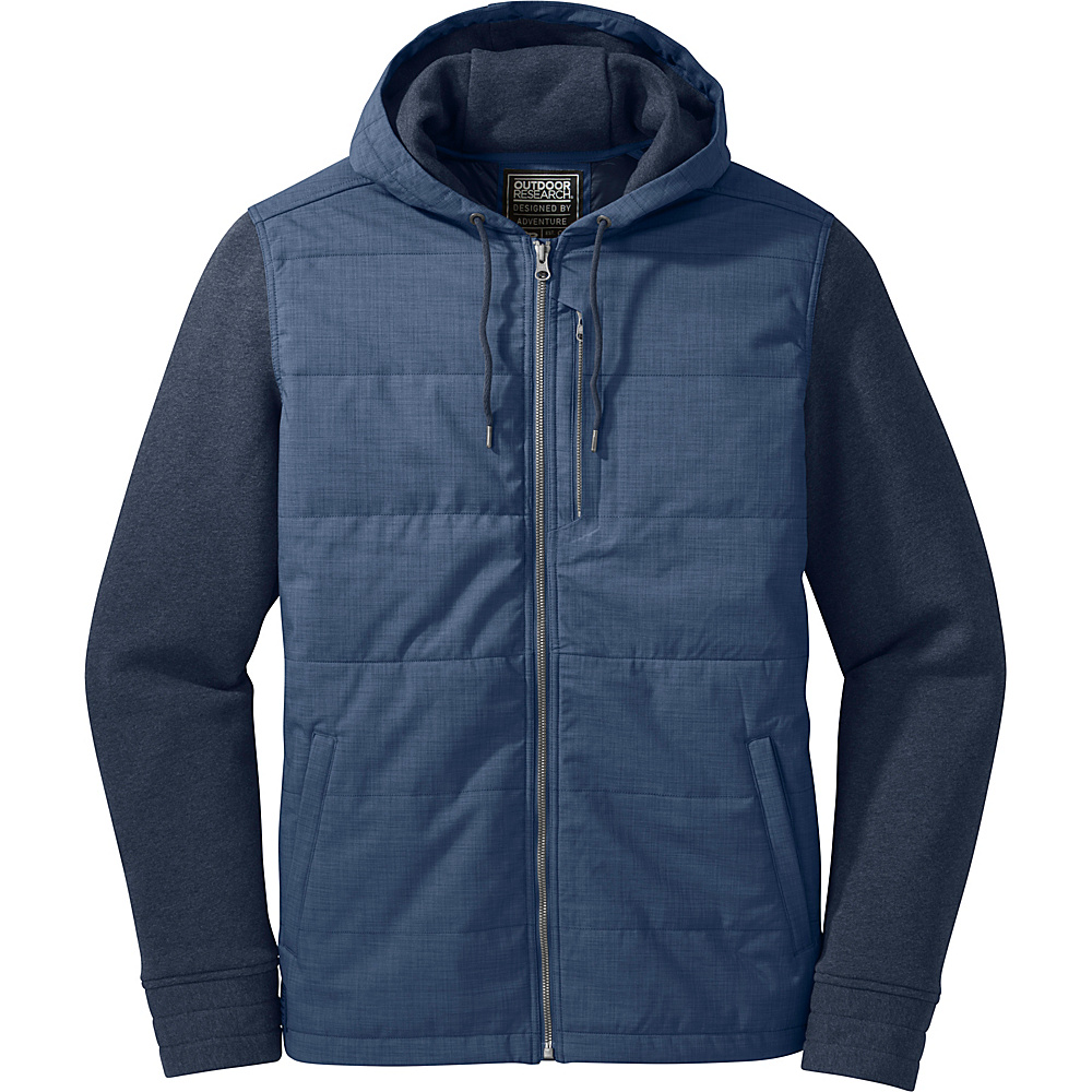 Outdoor Research Mens Revy Hooded Jacket S - Dusk/Night - Outdoor Research Mens Apparel - Apparel & Footwear, Men's Apparel