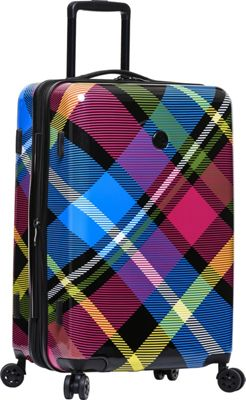 BODY GLOVE Long Lat Tartan 22 inch 8-Wheel Hardside Spinner Multi - BODY GLOVE Long Lat Hardside Carry-On